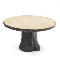 Hortense B. Hewitt Rustic Log Cake Stand Wedding Accessories