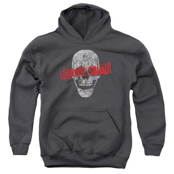 ac spbest Suicide Squad - Skull Youth Pull Over Hoodie