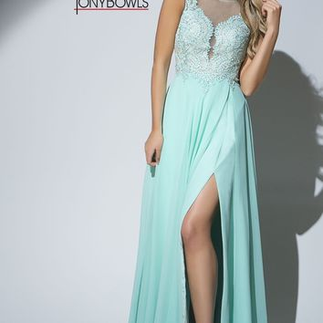 Tony Bowls Mint Prom Dress