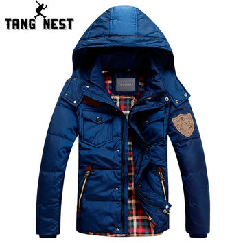 Men's Tangnest Duck Down Winter Coat Detachable Waterproof Warm Jacket Coat