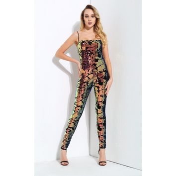 Multi Color Sequin Jumpsuit