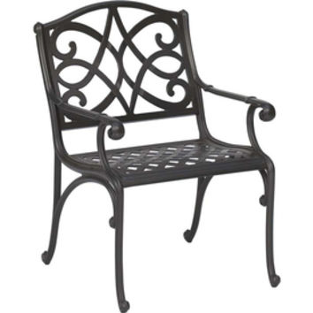 Shop Garden Treasures Waterbridge Mesh-Seat Aluminum Patio Dining Chair at Lowes.com