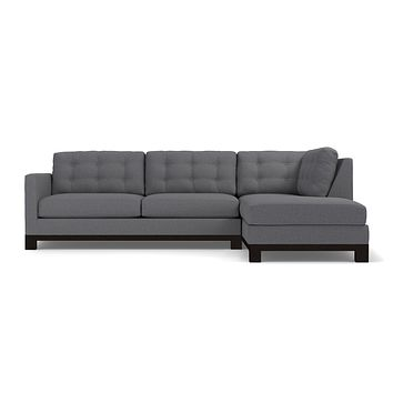 Logan Drive 2pc Sleeper Sectional Sofa :: Leg Finish: Espresso / Configuration: RAF - Chaise on the Right / Sleeper Option: Memory Foam Mattress
