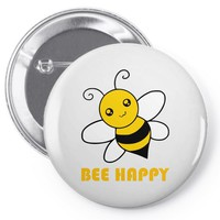 bee happy Pin-back button