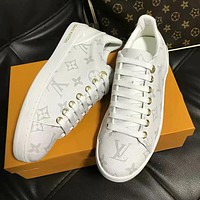 Louis Vuitton LV Trending Women Stylish Monogram Leather Sport Shoes Sneakers White I-ALS-XZ