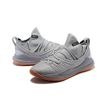 Under Armour Ua Curry 5 Cool Gray Basketball Shoe