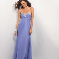 Blush 2013 Prom Dresses - Lilac Ruched Chiffon Strapless Prom Dress