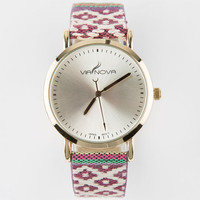 Via Nova Geo Tribal Band Watch Burgundy One Size For Women 25164432001