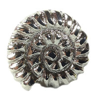 Vintage Seascape Shell Drawer Cabinet Cupboard Pull Knob (Nautilus Shell - Silver/Pewter)