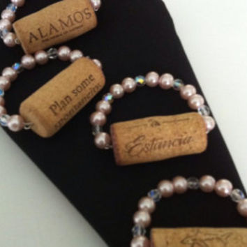 Napkin rings-hand made, natural wine cork, for table setting, kitchen decor.