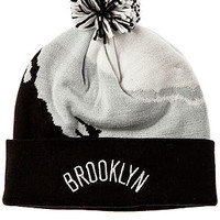 The Brooklyn Nets Paintbrush Pom Beanie