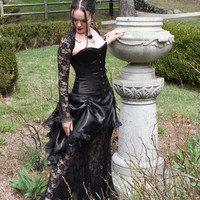 La Rose Gothique Victorian Gothic Bridal Gown Custom Made