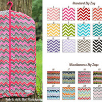 MADE TO ORDER Zig Zag Prints Hanging Garment Bag Many Colors