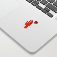 Wounded Hand // Space Sticker by DuckyB