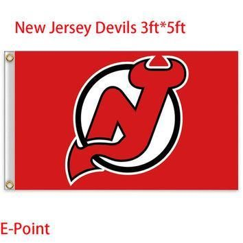 Jersey Devils USA National Hockey League ( NHL ) Flag 3ft*5ft BC830