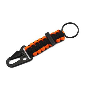 Paracord Carabiner Survival Keychain Lanyard