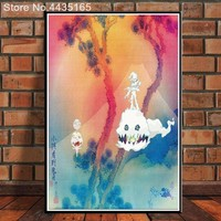 Kids See Ghosts Kanye West Poster Kid Cudi 2018 Album Posters and Prints Wall Art Picture for Living Room Modern Decoration