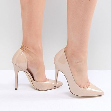 London Rebel Wide Fit Pointed High Heels at asos.com