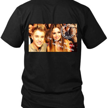 Justin Bieber Dice Que What Do You Mean 2 Sided Black Mens T Shirt