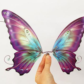 1/3 OOAK Butterfly wings for Dolls SD - Avatar - Purple Blue
