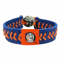 Gamewear MLB Leather Wrist Band - Mr. Met Team Colors