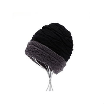 Men Womens Warm Knit Ski Beanie Skull Cap Hat Unisex Cashmere Hip-Hop  SM6