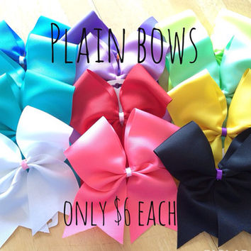 "Plain 3"" Cheer Bow"