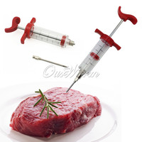 Barbecue BBQ Tools Set Grill Syringe Kitchen Accessories Sauce Injector Roast Needle Party Decoration Home Decor