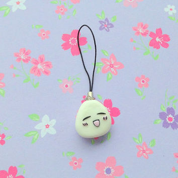 Anime Fruits basket polymer clay Tohru onigiri charm  kawaii rice balli manga keychain