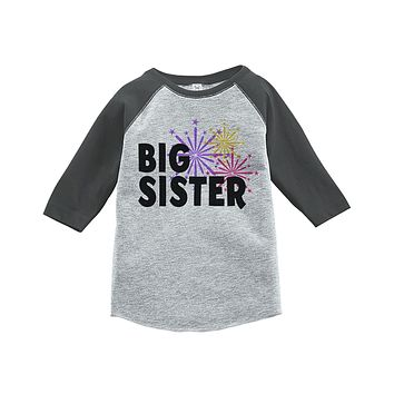 Custom Party Shop Kids Big Sister Happy New Year Raglan Shirt
