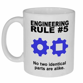Engineering Rule #5 Coffee or Tea Mug