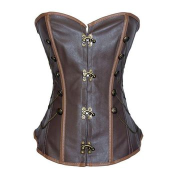 ONETOW Shaper Body Waist Sexy Sleeveless Push Up Slim Chain Corset [4965385156]