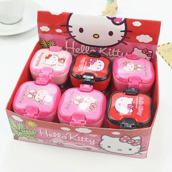 4pcs /Box Hello Kitty Lunch Box Eraser Correction Kids Prize Promotional Gift Student School Stationery