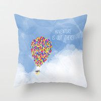 ADVENTURE IS OUT THERE! Throw Pillow by Rebecca Allen
