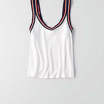 AEO Soft & Sexy Strappy Crop Tank , White