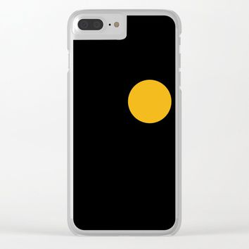 yellow point Clear iPhone Case by netzauge