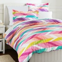 Ikat Stripe Duvet, Full/Queen, Multi