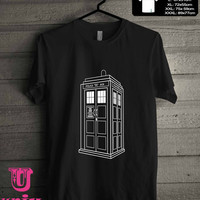 Doctor Who Tardis White T-Shirt for man shirt, woman shirt **