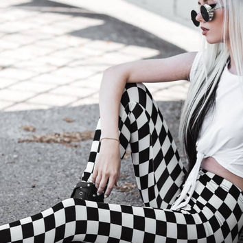 Checker Board Leggings, All Sizes