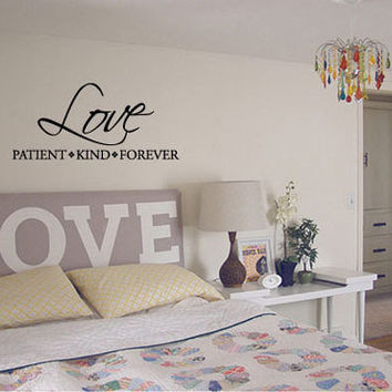 Shop Love Is Patient Love Is Kind Wall Decal on Wanelo