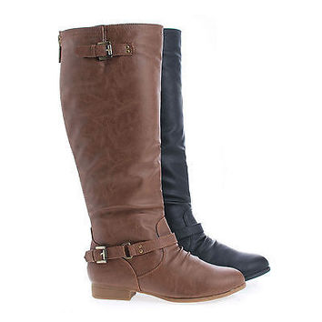 Coco1 Knee High Ankle Harness Zip Up Riding Boots
