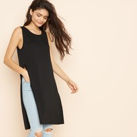 Elongated Tank With Side Slit