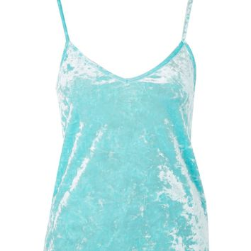 Sleeveless Velour Camisole Top | Topshop