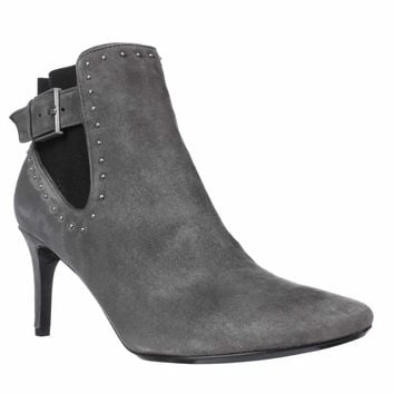 Calvin Klein Jozie Pointed Toe Ankle Booties, Shadow Grey/Black, 7 US / 37 EU