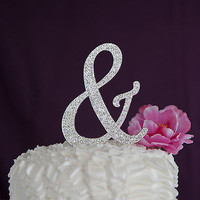 Ampersand Cake Topper - Silver