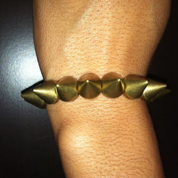 Stretchy Spike Bracelet-Bronze