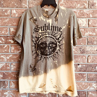 SUBLIME ~size large~grunge~super soft ~distressed ~grunge shirt, bleached, super soft