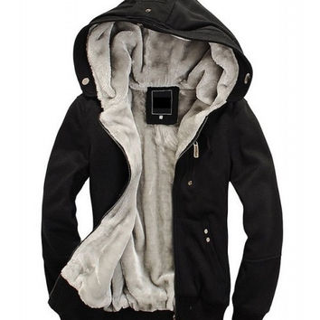 Winter Men's Hooded Long Sleeve Zipper Mens Jacket/Hoodie = 1827660420