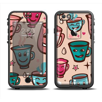 The Smiley Coffee Mugs Apple iPhone 6 LifeProof Fre Case Skin Set