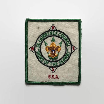Vintage 60s BSA Compass PATCH / 1960s St. Lawrence Council Patch